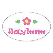 """Pink Daisy - """"Jaylene"""" Oval Decal"""