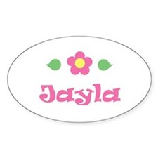 "Pink Daisy - ""Jayla"" Oval Decal"