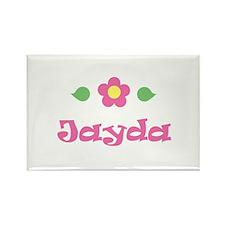 "Pink Daisy - ""Jayda"" Rectangle Magnet"