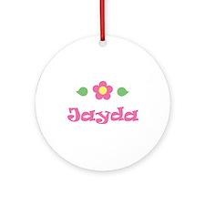 "Pink Daisy - ""Jayda"" Ornament (Round)"