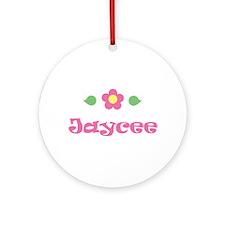 "Pink Daisy - ""Jaycee"" Ornament (Round)"