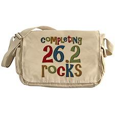 Completing 26.2 Rocks Marathon Runne Messenger Bag