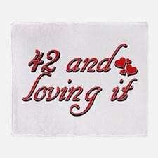 42 and loving it designs Throw Blanket