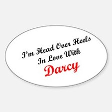In Love with Darcy Oval Decal