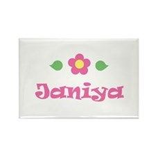 "Pink Daisy - ""Janiya"" Rectangle Magnet"