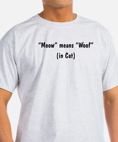 Meow Means Woof T-Shirt