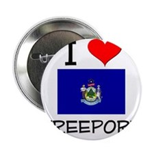 "I Love Freeport Maine 2.25"" Button"