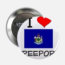 "I Love Freeport Maine 2.25"" Button"