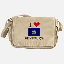 I Love Fryeburg Maine Messenger Bag