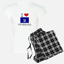 I Love Fryeburg Maine Pajamas