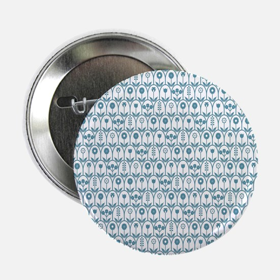 """Blue Flowers 2.25"""" Button (10 pack)"""