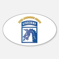 SSI - XVIII Airborne Corps with Text Decal