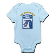 SSI - XVIII Airborne Corps with Text Infant Bodysu