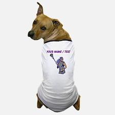 Custom Womens Lacrosse Player Dog T-Shirt