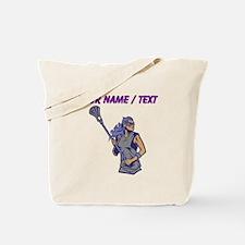 Custom Womens Lacrosse Player Tote Bag