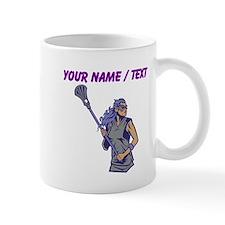 Custom Womens Lacrosse Player Mugs