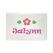 "Pink Daisy - ""Jalynn"" Rectangle Magnet"
