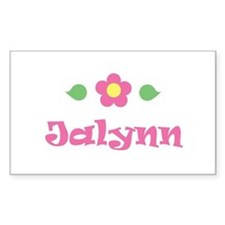 "Pink Daisy - ""Jalynn"" Rectangle Decal"