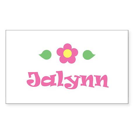 "Pink Daisy - ""Jalynn"" Rectangle Sticker"