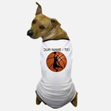 Custom Basketball Dunk Silhouette Dog T-Shirt