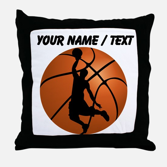 Custom Basketball Dunk Silhouette Throw Pillow