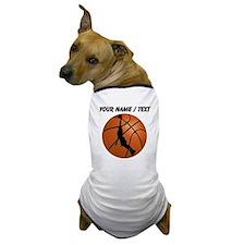 Custom Basketball Dunk Silhouette Dog T-Shirt