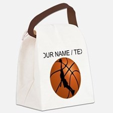 Custom Basketball Dunk Silhouette Canvas Lunch Bag