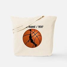 Custom Basketball Dunk Silhouette Tote Bag