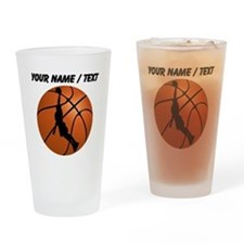 Custom Basketball Dunk Silhouette Drinking Glass