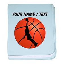 Custom Basketball Dunk Silhouette baby blanket