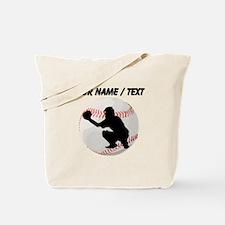 Custom Baseball Catcher Silhouette Tote Bag
