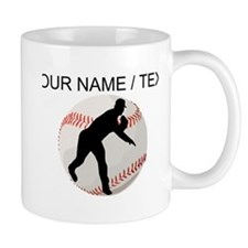 Custom Baseball Pitcher Silhouette Mugs