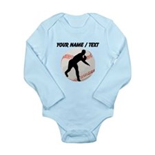 Custom Baseball Pitcher Silhouette Body Suit