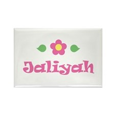 """Pink Daisy - """"Jaliyah"""" Rectangle Magnet"""
