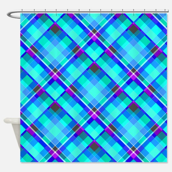 Square Pattern Shower Curtain