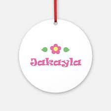 """Pink Daisy - """"Jakayla"""" Ornament (Round)"""