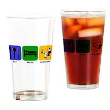 Eat Sleep Blogging Drinking Glass