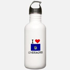 I Love Livermore Maine Water Bottle