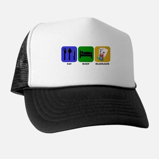 Eat Sleep Blackjack Trucker Hat