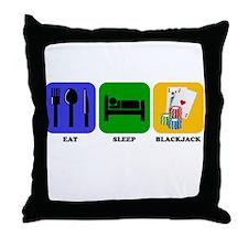 Eat Sleep Blackjack Throw Pillow
