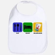 Eat Sleep Blackjack Bib