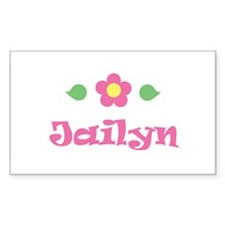 """Pink Daisy - """"Jailyn"""" Rectangle Decal"""