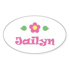 "Pink Daisy - ""Jailyn"" Oval Decal"
