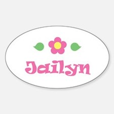 """Pink Daisy - """"Jailyn"""" Oval Decal"""