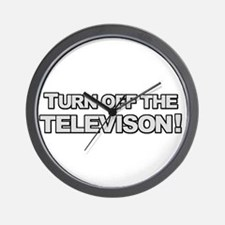 Turn Off The Television Wall Clock