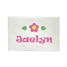 "Pink Daisy - ""Jaelyn"" Rectangle Magnet"