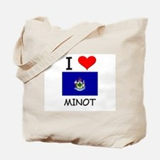 I Love Minot Maine Tote Bag