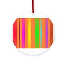 Stripes Art Orange Ornament (Round)
