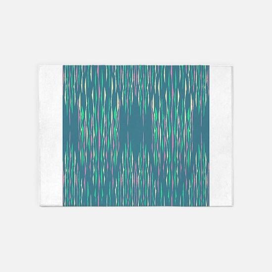Abstract Llines 5'x7'Area Rug