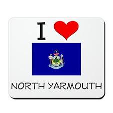 I Love North Yarmouth Maine Mousepad
